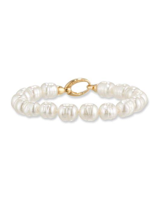 Majorica   White 8mm Baroque Pearl Bracelet   Lyst