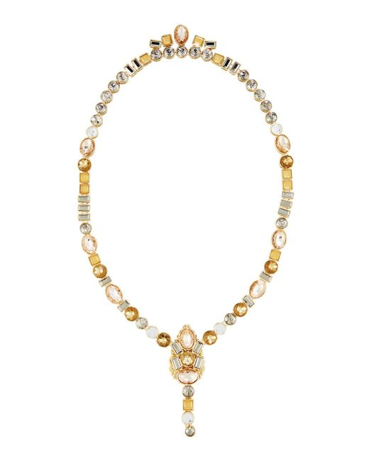 Lydell NYC | Metallic Multicolor Front To Back Necklace | Lyst