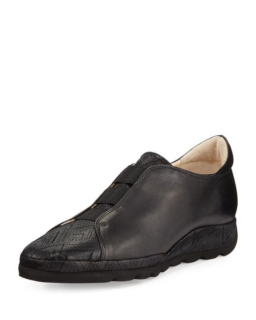 Amalfi by rangoni Mosca Casual Leather Shoe in Black