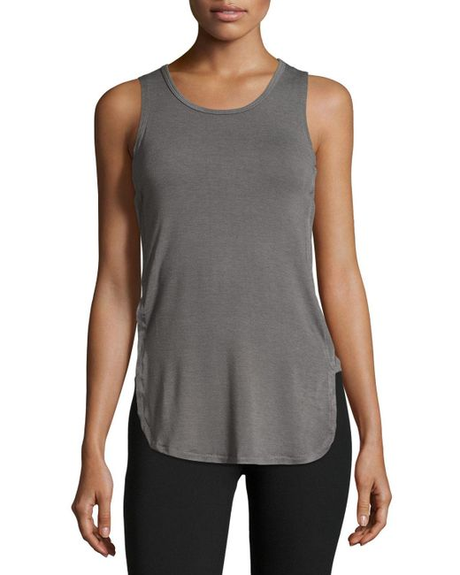 Balance Collection Ophelia Side Cutout Tank In Gray Lyst