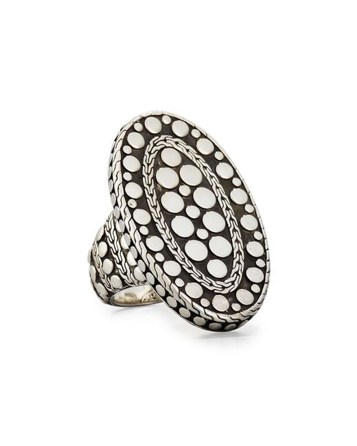 John Hardy | Metallic Oval Dot Ring | Lyst