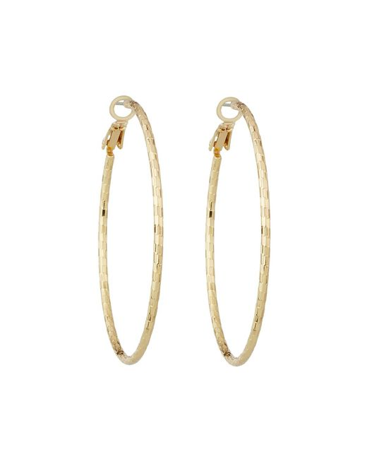 Lydell NYC | Metallic Textured Hoop Earrings | Lyst