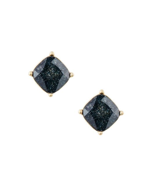 Lydell NYC | Black Cushion-cut Cz Speckle Stud Earrings | Lyst