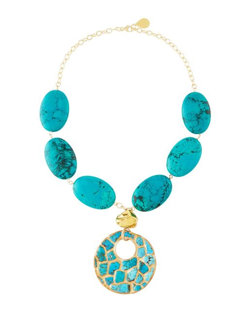 Devon Leigh   Blue Copper-infused Turquoise Pendant Necklace   Lyst