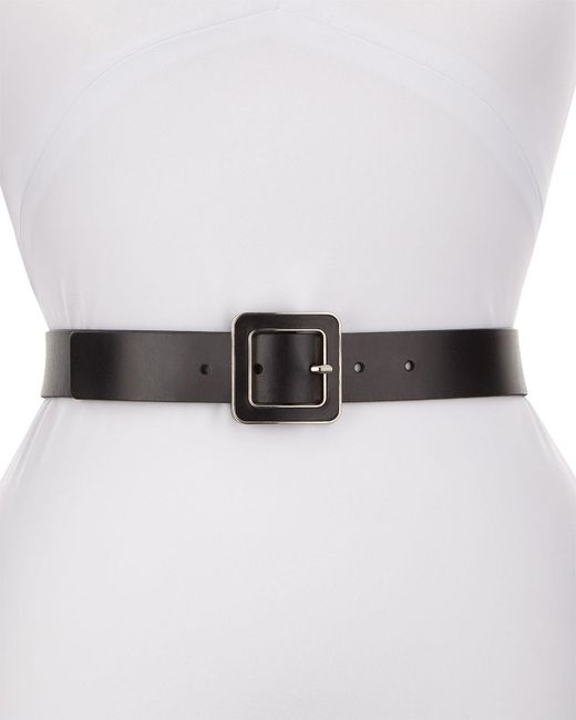 Neiman Marcus | Black Inlay Leather Trouser Belt | Lyst