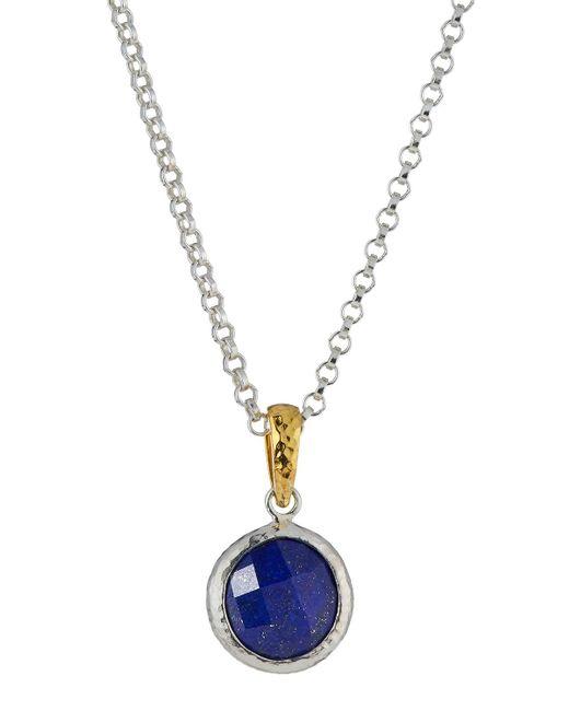 Gurhan   Blue Round Lapis Pendant Necklace   Lyst