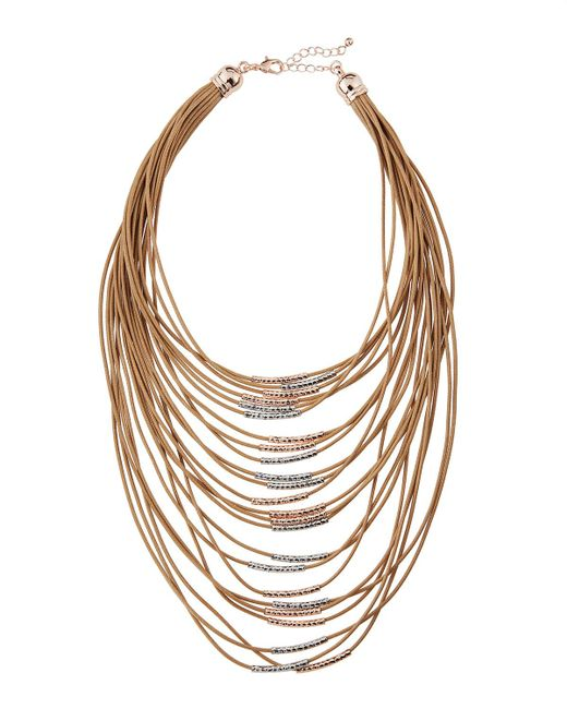 Fragments | Brown Multi-strand Cord Statement Necklace | Lyst