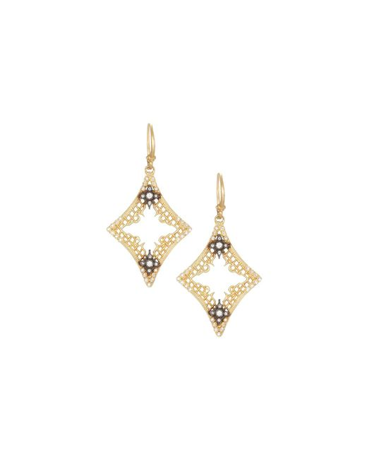 Armenta | Metallic Old World 18k Open Mesh Drop Earrings W/ Diamonds | Lyst
