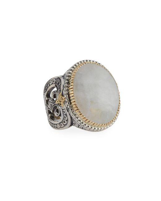 Konstantino | White Erato Oval Labradorite Doublet Ring | Lyst