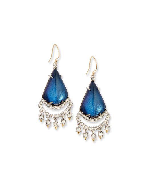 Alexis Bittar | Blue Crystal Lace Chandelier Earrings | Lyst