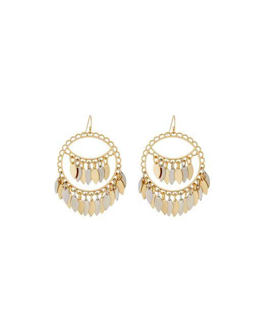 Fragments   Metallic Two-tone Shakey Drop Earrings   Lyst
