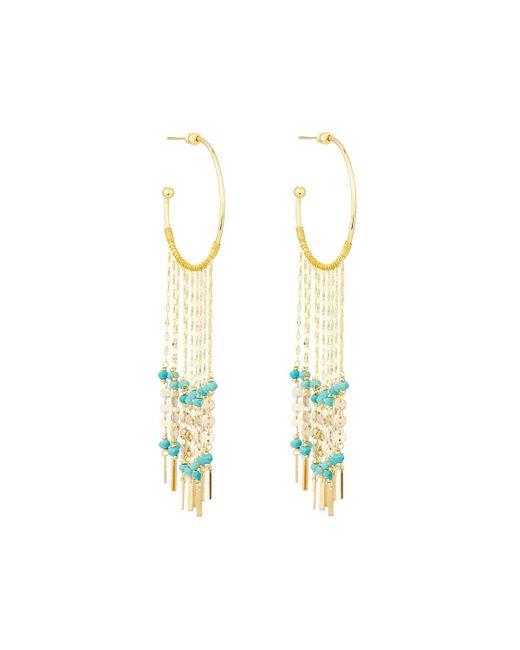 Nakamol | Metallic Beaded Fringe Hoop Earrings | Lyst