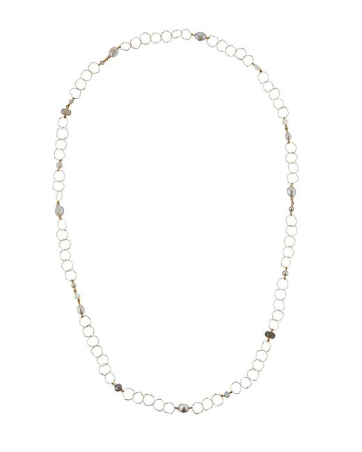 Nakamol | Metallic Long Mixed Pearl Chain Necklace | Lyst