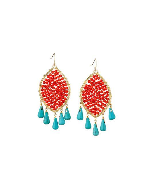 Panacea - Orange Marquise Crystal Drop Earrings - Lyst