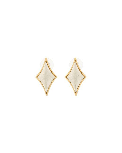 Stephanie Kantis | Metallic Diamond-motif Cabochon Stud Earrings | Lyst