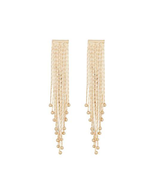 Panacea | Metallic Liquid Fringe Dangle Earrings | Lyst