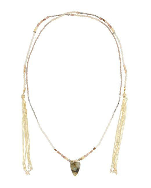 Nakamol | Gray Long Beaded Lariat Choker Necklace | Lyst