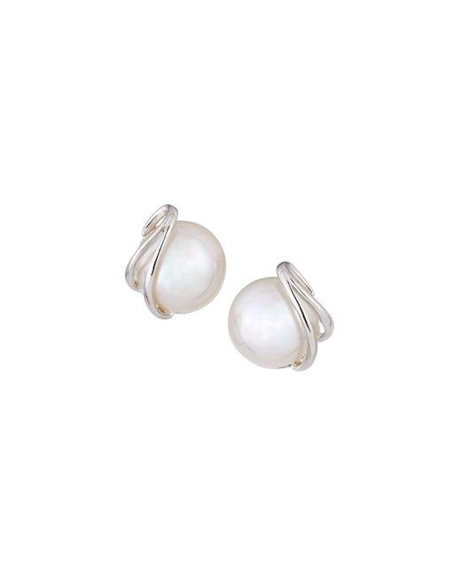 Majorica | White 10mm Simulated Pearl Stud Earrings | Lyst