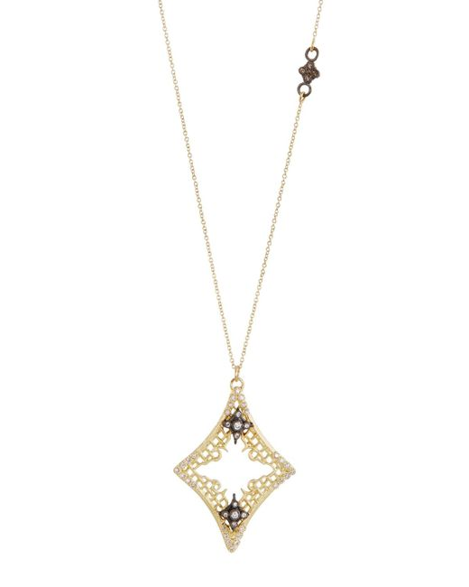 Armenta | Metallic Old World Diamond Mesh Cravelli Pendant Necklace | Lyst