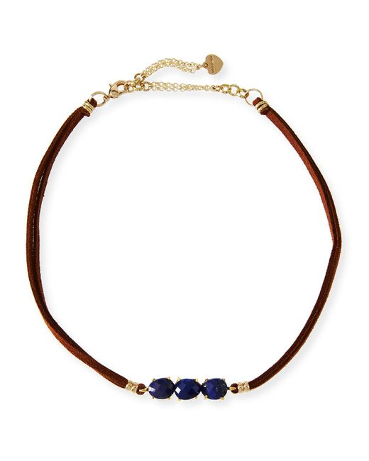 Nakamol | Blue Braided Leather & Lapis Choker | Lyst