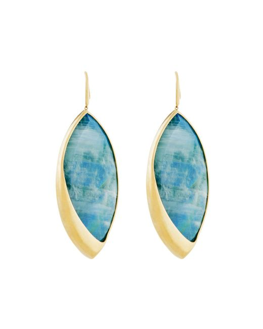 Lana Jewelry   Blue 14k Radiant Large Malachite & Moonstone Marquis Drop Earrings   Lyst