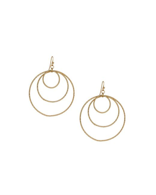 Panacea | Metallic Golden Orbital Hoop Drop Earrings | Lyst
