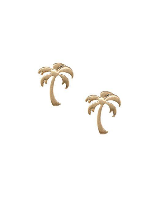 Lydell NYC | Metallic Palm Tree Stud Earrings | Lyst