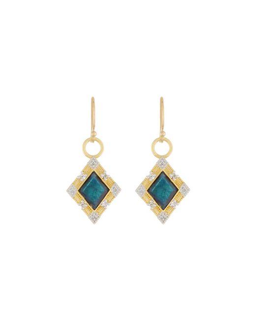 Jude Frances | Blue Lisse 18k Dangle/drop Earrings With Onyx/labradorite Doublet | Lyst