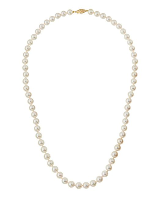 Belpearl | White Akoya Round Pearl Princess Necklace | Lyst