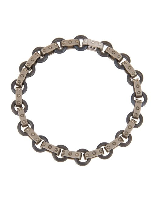 Roberto Coin | Pois Moi 18k White Gold & Titanium O-ring Bracelet | Lyst