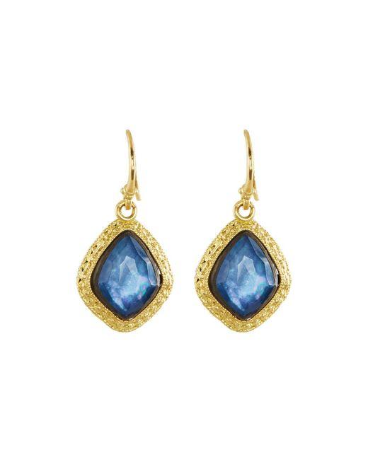 Armenta | Blue Old World 18k Sapphire Kite Drop Earrings | Lyst