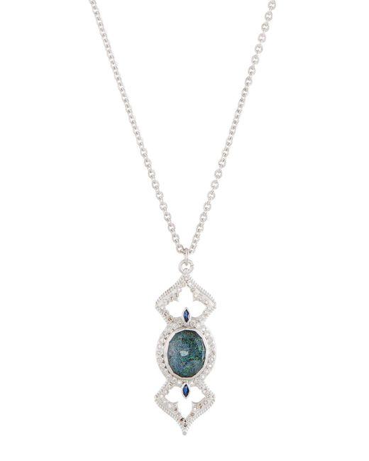 Armenta | Metallic New World Open Cross Pendant Necklace W/ Black Opal Doublet & Diamonds | Lyst