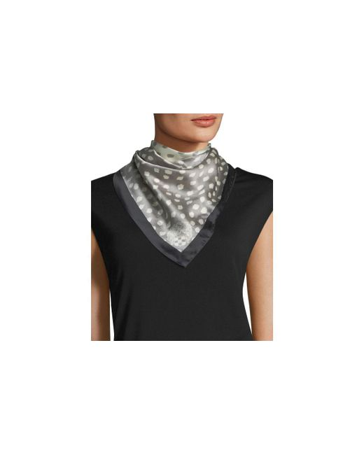 Vince Camuto | Gray Shadow Dot Bandana Scarf | Lyst