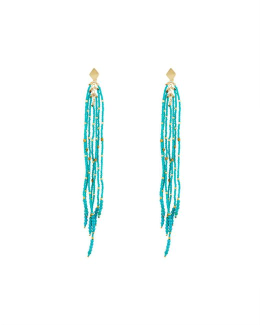 Nakamol | Blue Long Beaded Dangle Earrings | Lyst
