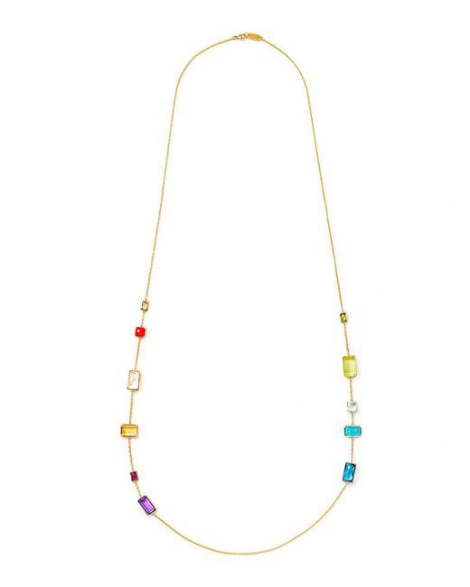 Ippolita | Metallic 18k Gelato Long 11-stone Station Necklace In Summer Rainbow | Lyst