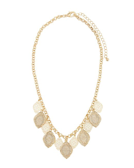 Fragments | Metallic Filigree Short Collar Necklace | Lyst