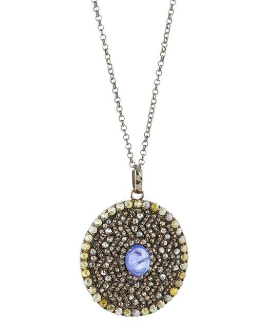 Bavna | Pavé Diamond & Purple Tanzanite Pendant Necklace | Lyst
