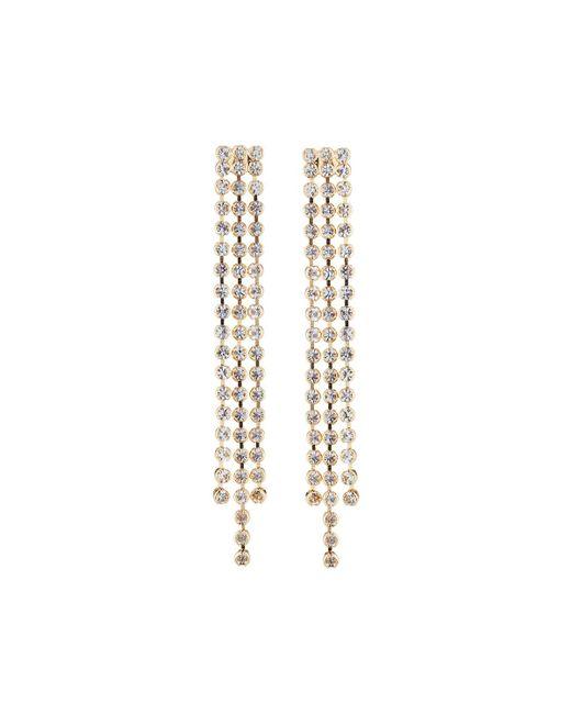 Fragments - Metallic Triple Crystal Dangle Earrings - Lyst