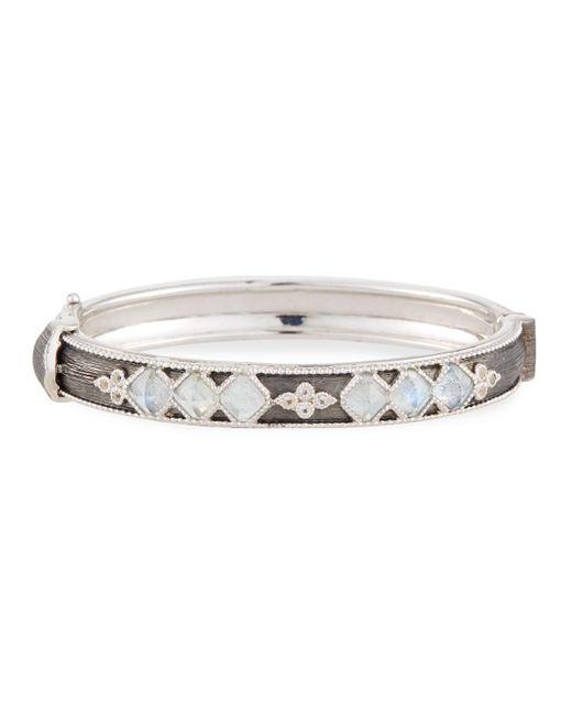 Jude Frances - Metallic Moroccan Narrow Sterling Silver Hinge Bracelet With Labradorite/quartz Doublets - Lyst