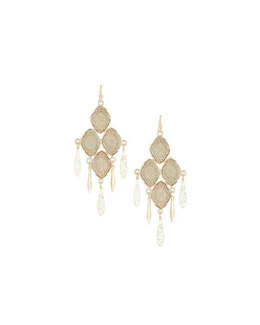Fragments | Metallic Filigree Glitter Paper Statement Earrings | Lyst