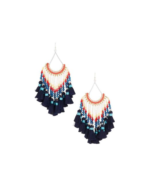 Nakamol - Blue Multi-tassel Dangle Earrings - Lyst