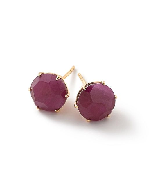 Ippolita - Red 18k Rock Candy® Composite Ruby Stud Earrings - Lyst