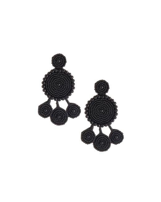 Nakamol - Black Seed Bead Circular Dangle Earrings - Lyst