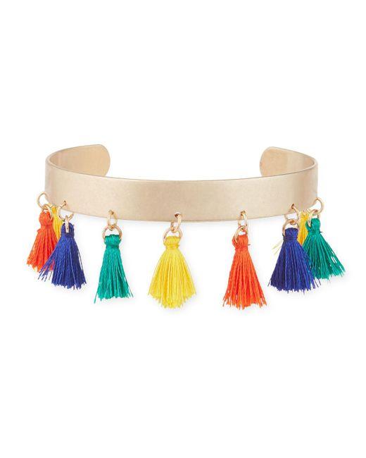 Panacea - Multicolor Multi-tassel Cuff Bracelet - Lyst