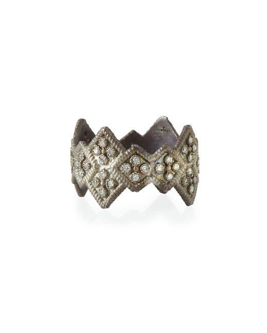 Armenta - Metallic New World Wide Diamond Stack Ring - Lyst