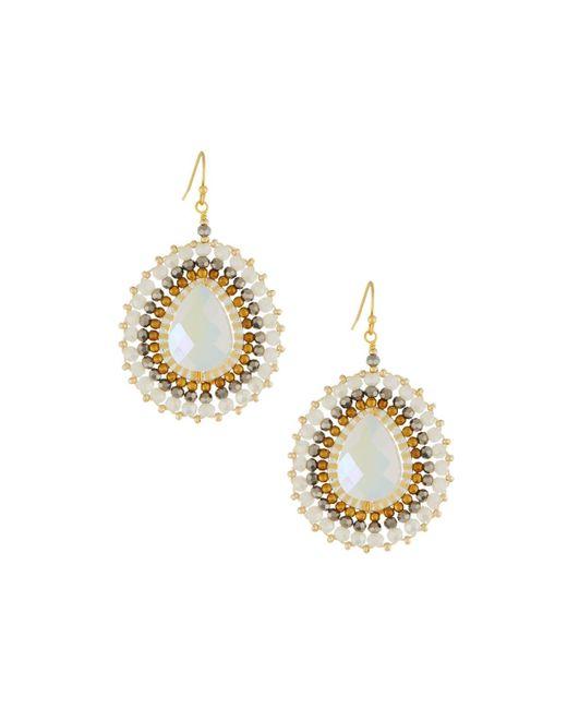 Nakamol - Metallic Crystal Beaded Circular Drop Earrings - Lyst