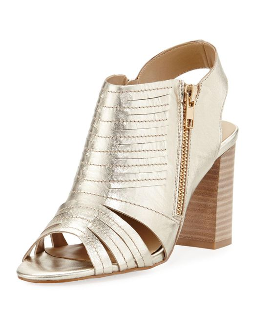 Neiman Marcus | Natural Benny Two-zip City Sandal | Lyst