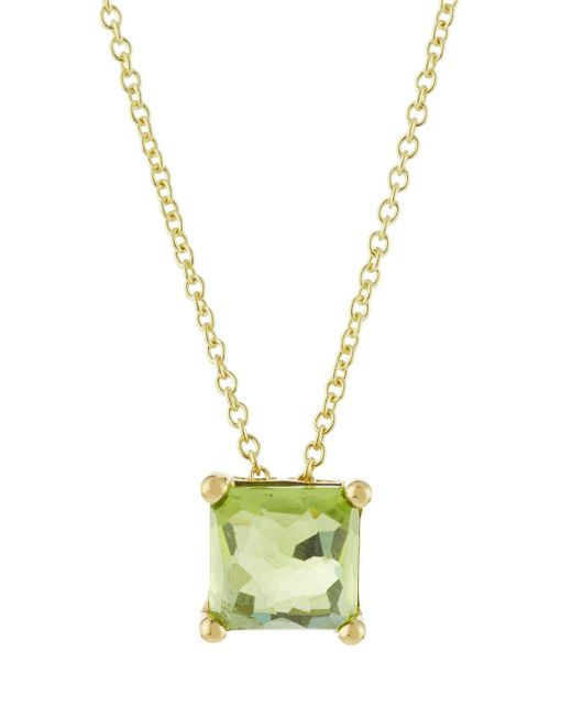 Ippolita - Metallic 18k Rock Candy Mini Single Square Sliding Peridot Pendant Necklace - Lyst