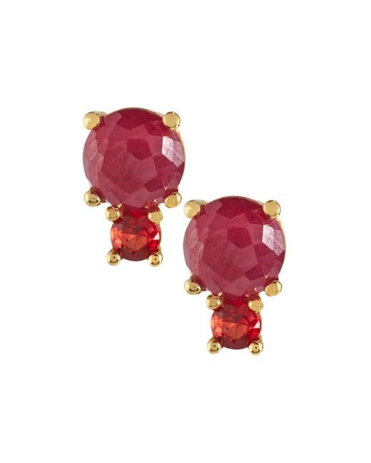 Ippolita - Red 18k Lollipop 2-stone Post Earrings - Lyst