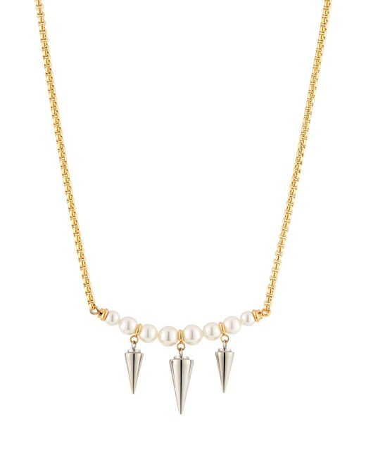 Majorica - Metallic Pearly Spike Pendant Necklace - Lyst